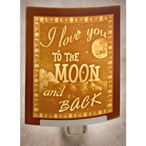 Porcelain Garden Lighting The Porcelain Garden I Love You To the Moon & Black Night Light NR285