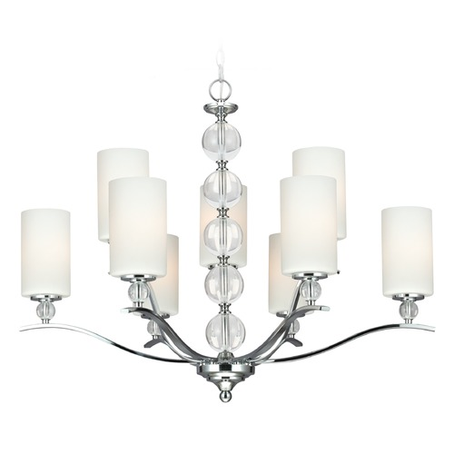Sea Gull Lighting Sea Gull Lighting Englehorn Chrome / Optic Crystal Chandelier 3113409BLE-05