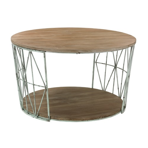 Sterling Lighting Round Wood & Metal Coffee Table 138-167
