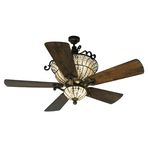 Craftmade Lighting Craftmade Lighting Cortana Peruvian Bronze Ceiling Fan with Light K10659