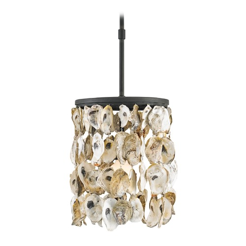 Currey and Company Lighting Currey and Company Stillwater Blacksmith / Natural Pendant Light 9250