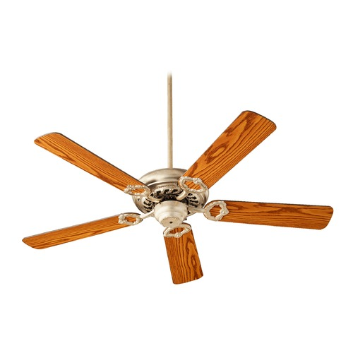 Quorum Lighting Quorum Lighting Monticello Aged Silver Leaf Ceiling Fan Without Light 17525-60