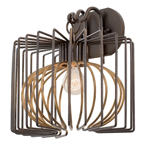 Kalco Lighting Kalco Metro Iii Bronze Gold Sconce 502420BZG