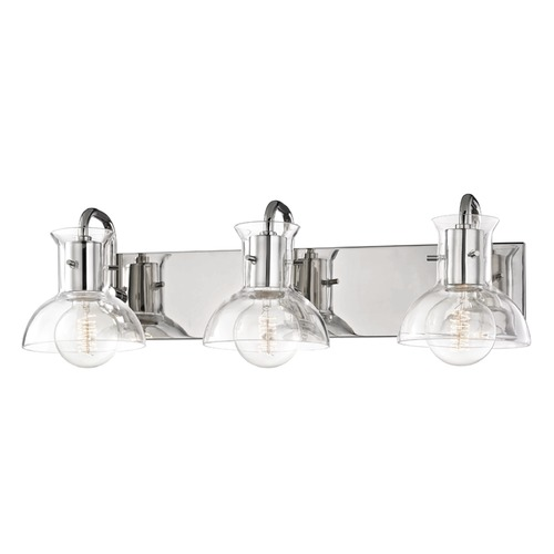 Mitzi by Hudson Valley Riley Polished Nickel Bathroom Light Mitzi by Hudson Valley H111303-PN