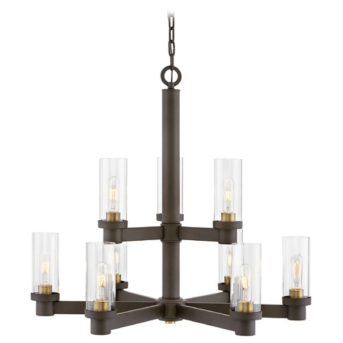 Hinkley Hinkley Midtown 9-Light Oil Rubbed Bronze / Heritage Brass Chandelier 4978OZ