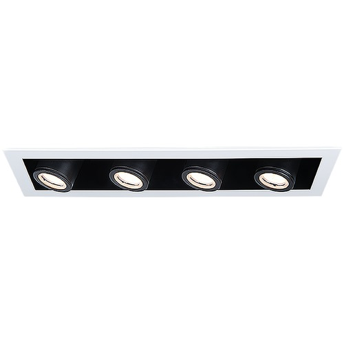 WAC Lighting Wac Lighting Silo Multiples White / Black LED Recessed Kit MT-4410T-935-WTBK
