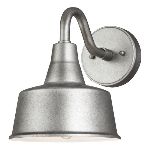 Sea Gull Lighting 8 inch Wide Weathered Pewter Dark Sky Friendly Barn Light  8537401-57