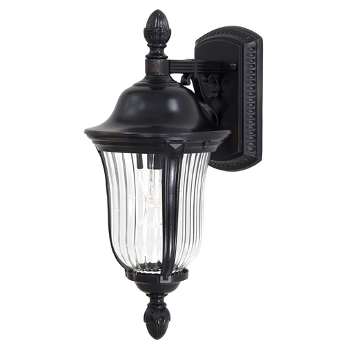 Minka Lighting Outdoor Wall Light with Clear Glass in Heritage Finish 8847-94