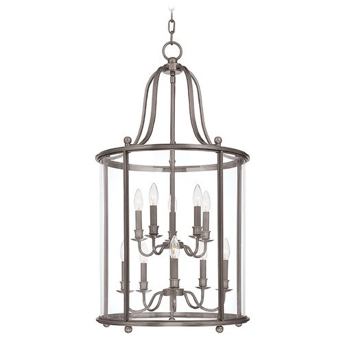 Hudson Valley Lighting Pendant Light with Clear Glass in Antique Nickel Finish 1320-AN
