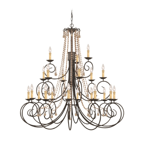 Crystorama Lighting Crystal Chandelier in Dark Rust Finish 5219-DR-GTS