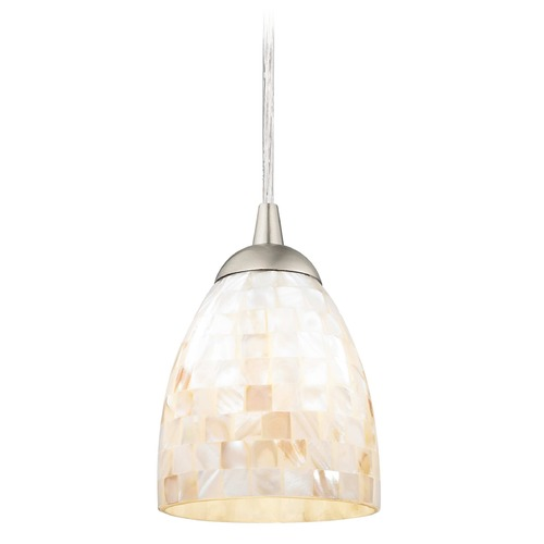Design Classics Lighting Design Classics Gala Fuse Satin Nickel LED Mini-Pendant Light with Bell Shade 682-09 GL1026MB