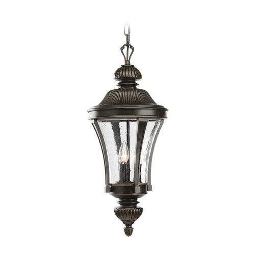 Progress Lighting Progress Forged Bronze Outdoor Hanging Light with Clear Glass P5538-77