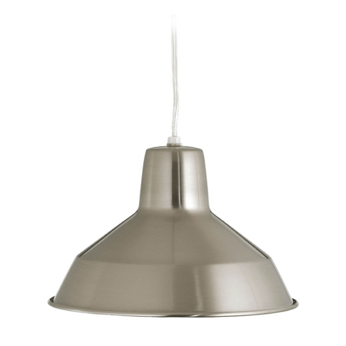 Progress Lighting Pendant Light in Brushed Nickel Finish P5087-09