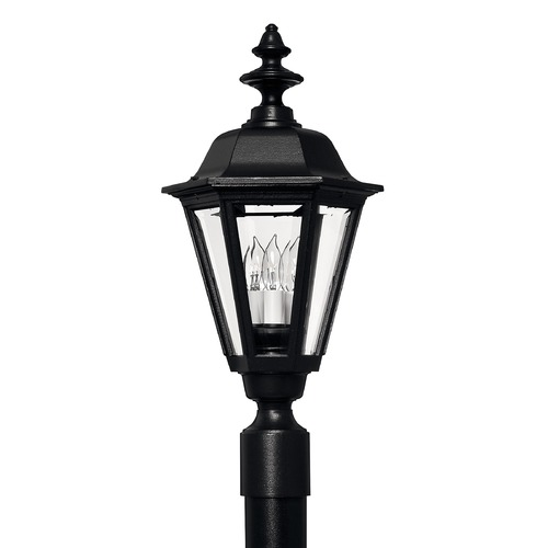 Hinkley Post Light with Clear Glass in Black Finish 1441BK