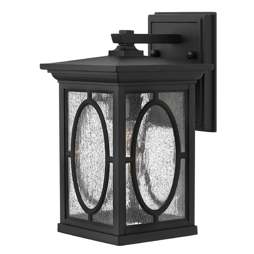 Hinkley Lighting Outdoor Wall Light with Clear Glass in Black Finish 1490BK-GU24