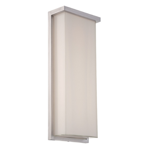 Modern Forms by WAC Lighting Modern Forms Ledge Brushed Aluminum LED Outdoor Wall Light WS-W1420-AL