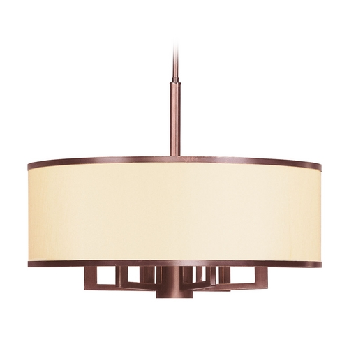 Livex Lighting Livex Lighting Park Ridge Vintage Bronze Pendant Light with Drum Shade 6296-70