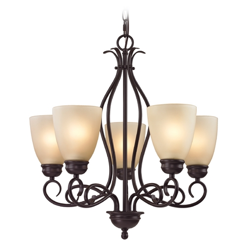 Cornerstone Lighting Cornerstone Lighting Chatham Oil Rubbed Bronze Chandelier 1105CH/10