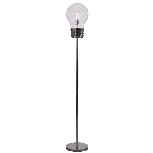 Kenroy Home Lighting Kenroy Home Lighting Edison Antique Brass Floor Lamp with Globe Shade 32463AB