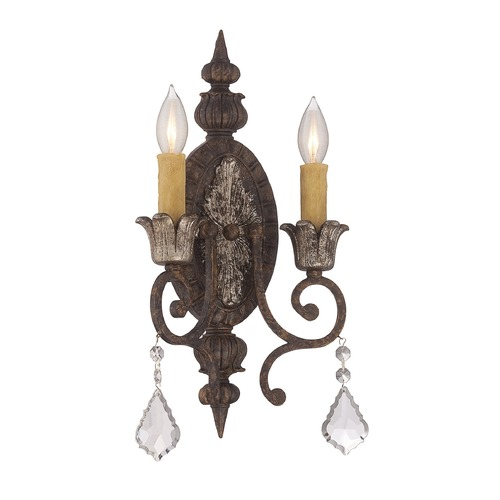 Savoy House Savoy House Lighting Elizabeth New Tortoise Shell W/silver Sconce 9P-1561-2-8