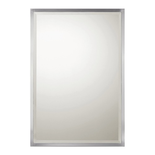 Capital Lighting Capital Lighting Brushed Nickel Rectangle Mirror 38x26 M382656