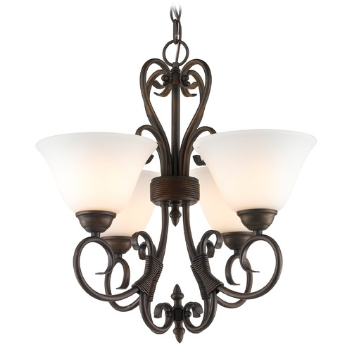 Golden Lighting Golden Lighting Homestead Rubbed Bronze Mini-Chandelier 8606-GM4 RBZ-OP