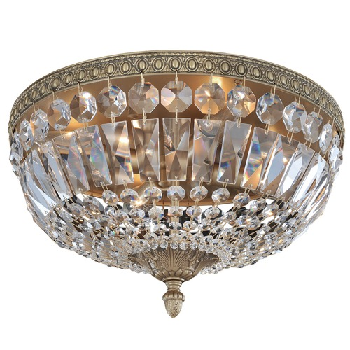 Allegri Lighting Lemire 4 Light Flush Mount w/ Antique Gold 025941-031-FR001
