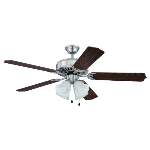 Craftmade Lighting Craftmade Pro Builder 203 Brushed Polished Nickel Ceiling Fan with Light K11202