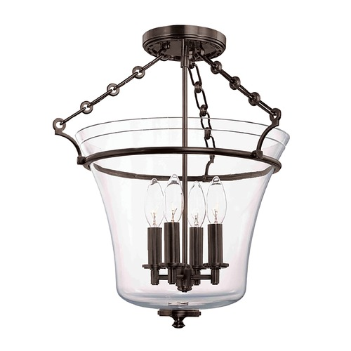 Hudson Valley Lighting Semi-Flushmount Light with Clear Glass in Old Bronze Finish 832-OB