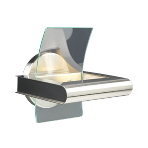 PLC Lighting Modern Sconce Wall Light with Clear Glass in Satin Nickel Finish 6443 SN