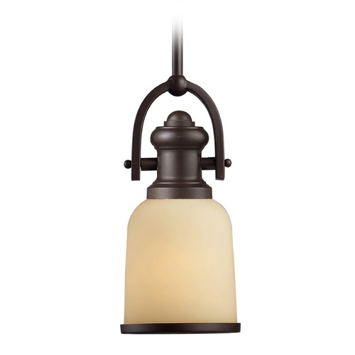 Elk Lighting Elk Lighting Brooksdale Oiled Bronze LED Mini-Pendant Light with Bowl / Dome Shade 66171-1-LED