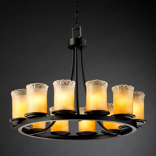 Justice Design Group Justice Design Group Veneto Luce Collection Chandelier GLA-8768-16-GLDC-MBLK