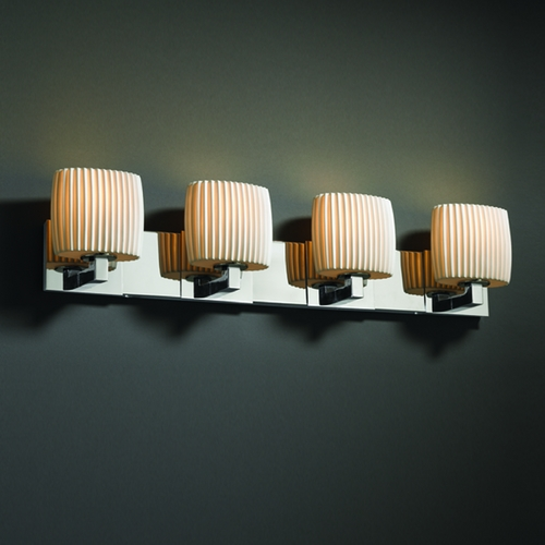 Justice Design Group Justice Design Group Limoges Collection Bathroom Light POR-8924-30-PLET-CROM