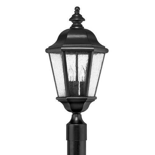 Hinkley Lighting Post Light with Clear Glass in Black Finish 1671BK
