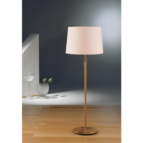 Holtkoetter Lighting Holtkoetter Modern Floor Lamp with White Shades in Antique Brass Finish 2545 AB SWRG