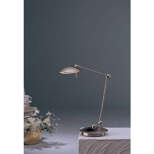 Holtkoetter Lighting Holtkoetter Modern Swing Arm Lamp in Satin Nickel Finish 6238 SN