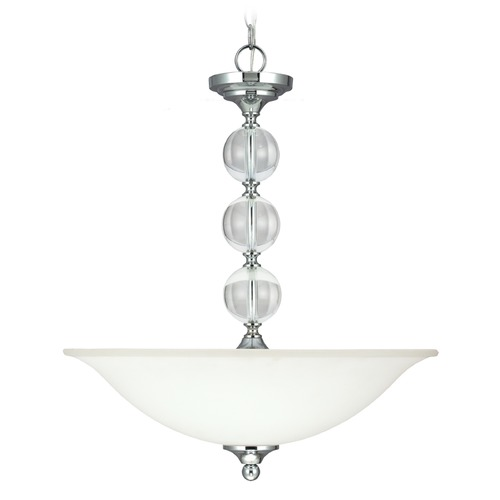 Sea Gull Lighting Sea Gull Lighting Englehorn Chrome / Optic Crystal Pendant Light 6613403BLE-05