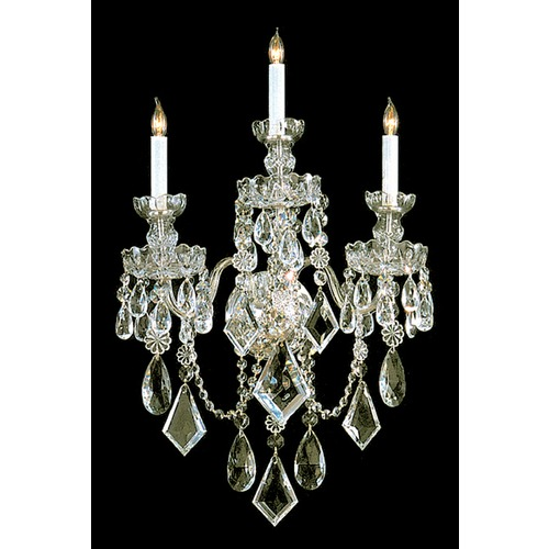 Crystorama Lighting Crystorama Lighting Traditional Crystal Polished Brass Sconce 1043-PB-CL-MWP