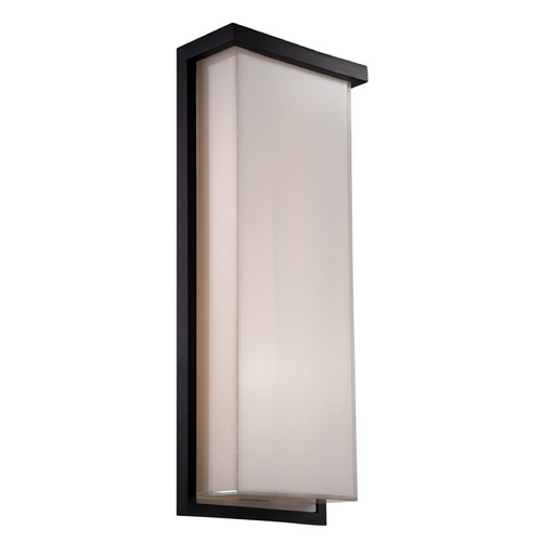 Modern Forms by WAC Lighting Modern Forms Ledge Black LED Outdoor Wall Light WS-W1420-BK