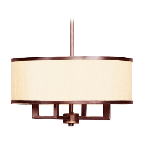 Livex Lighting Livex Lighting Park Ridge Vintage Bronze Pendant Light with Drum Shade 6294-70