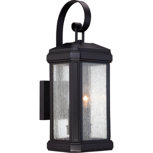 Quoizel Lighting Quoizel Trumbull Mystic Black Outdoor Wall Light TML8407K