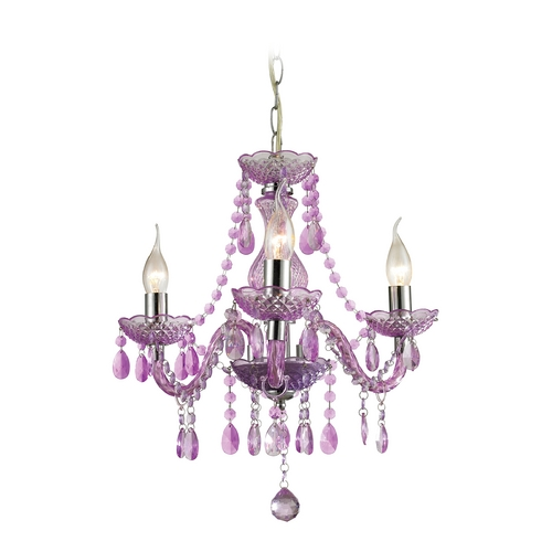 Sterling Lighting Sterling Lighting Purple / Chrome Crystal Chandelier 144-013