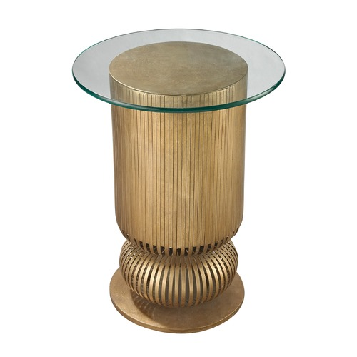 Dimond Lighting Gold Leaf Sock Bun Side Table 114-120