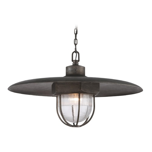 Troy Lighting Troy Lighting Acme Aged Silver Pendant Light with Bowl / Dome Shade F3898