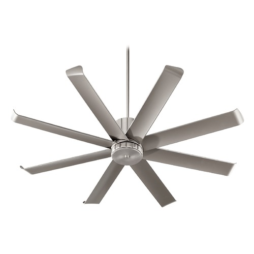 Quorum Lighting Quorum Lighting Proxima Patio Satin Nickel Ceiling Fan Without Light 196608-65