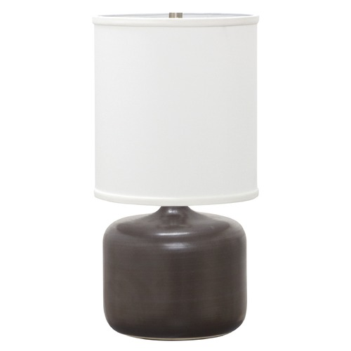 House of Troy Lighting House Of Troy Scatchard Black Matte Table Lamp with Cylindrical Shade GS120-BM