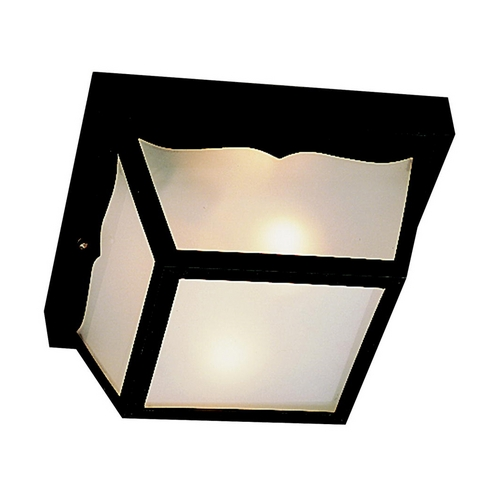 Kichler Lighting Kichler Close To Ceiling Light with White in Black Finish 9320BK