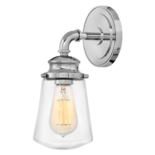 Hinkley Hinkley Fritz Chrome Sconce with Clear Glass 5030CM