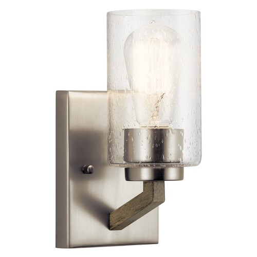Kichler Lighting Deryn Distressed Antique Gray Sconce with Clear Seeded Glass 43038DAG