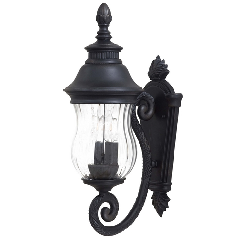 Minka Lavery Outdoor Wall Light with Clear Glass in Heritage Finish 8900-94